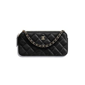 Classic Chanel clutch with chain